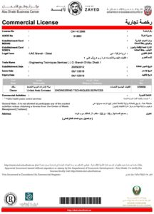 ets abu dhabi trade license engineering techniques services